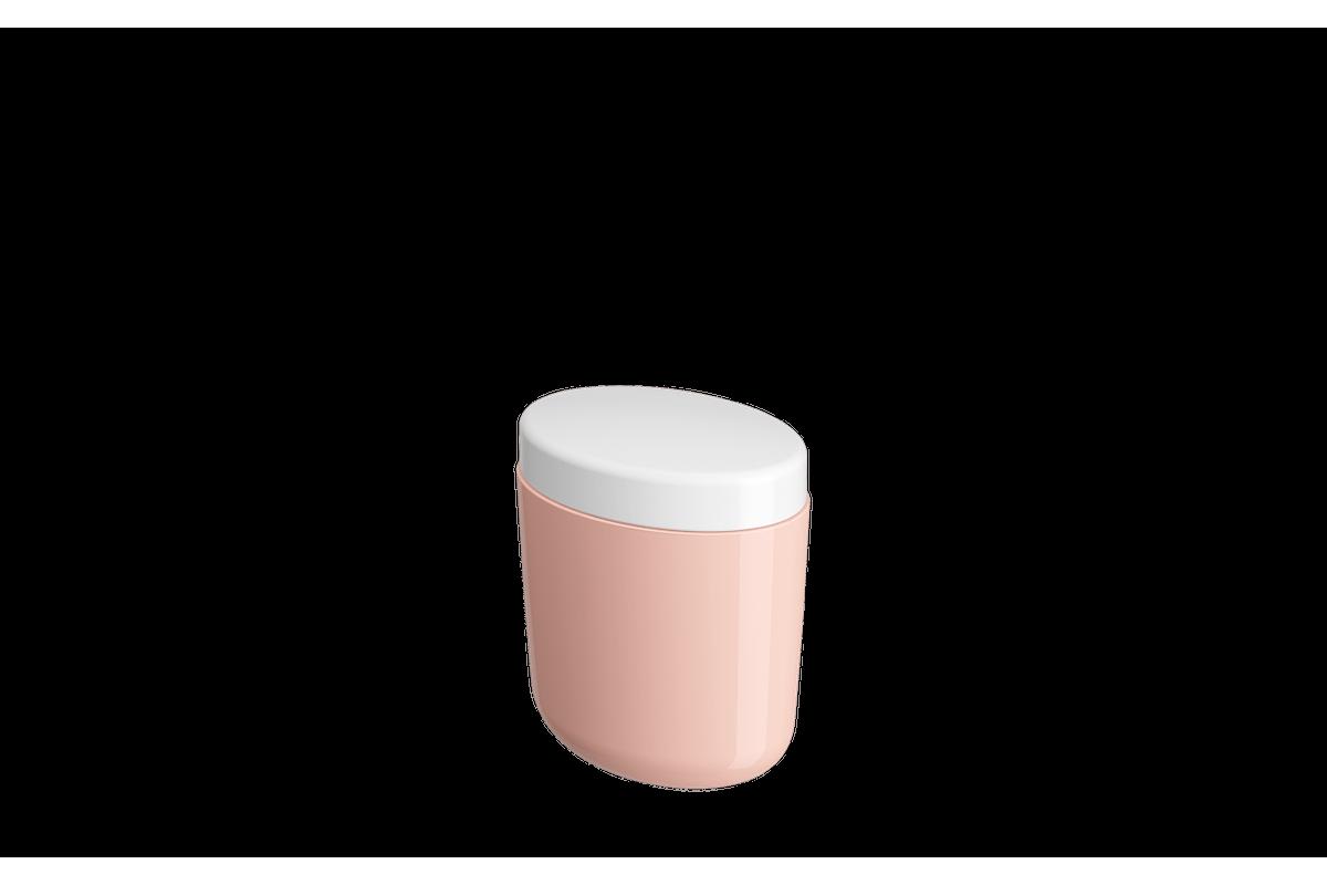 Porta-algodão/cotonete Full - RBL 10,6 X 7,7 X 11,8 Cm Rosa Blush Coza