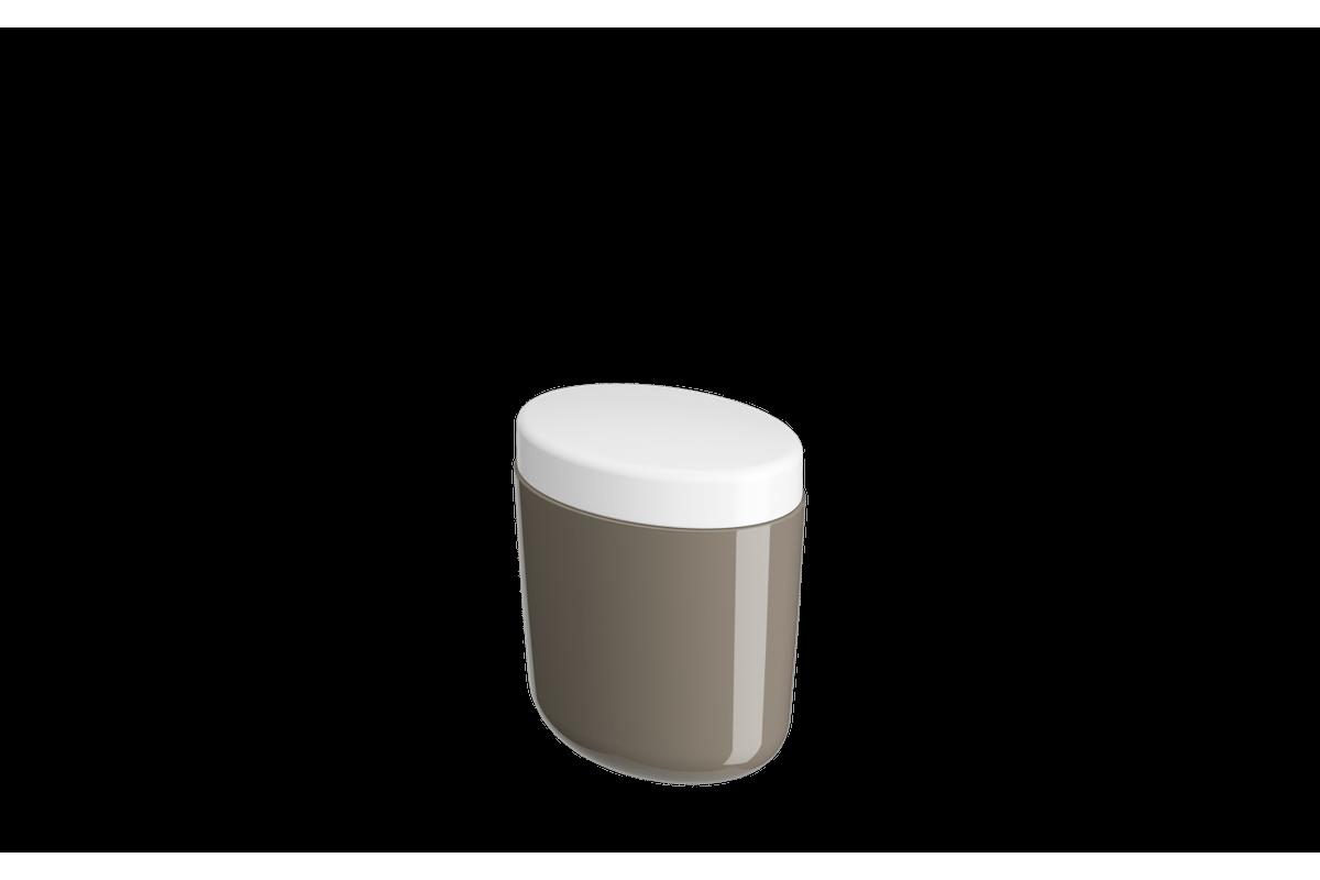 Porta-algodão/cotonete Full - WGR 10,6 X 7,7 X 11,8 Cm Warm Gray Coza