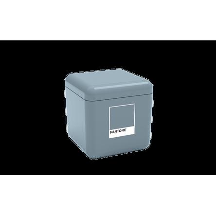 Porta Algodão/Cotonetes - Cube 8,5 X 8,5 X 8,5 Cm Azul Pantone Coza