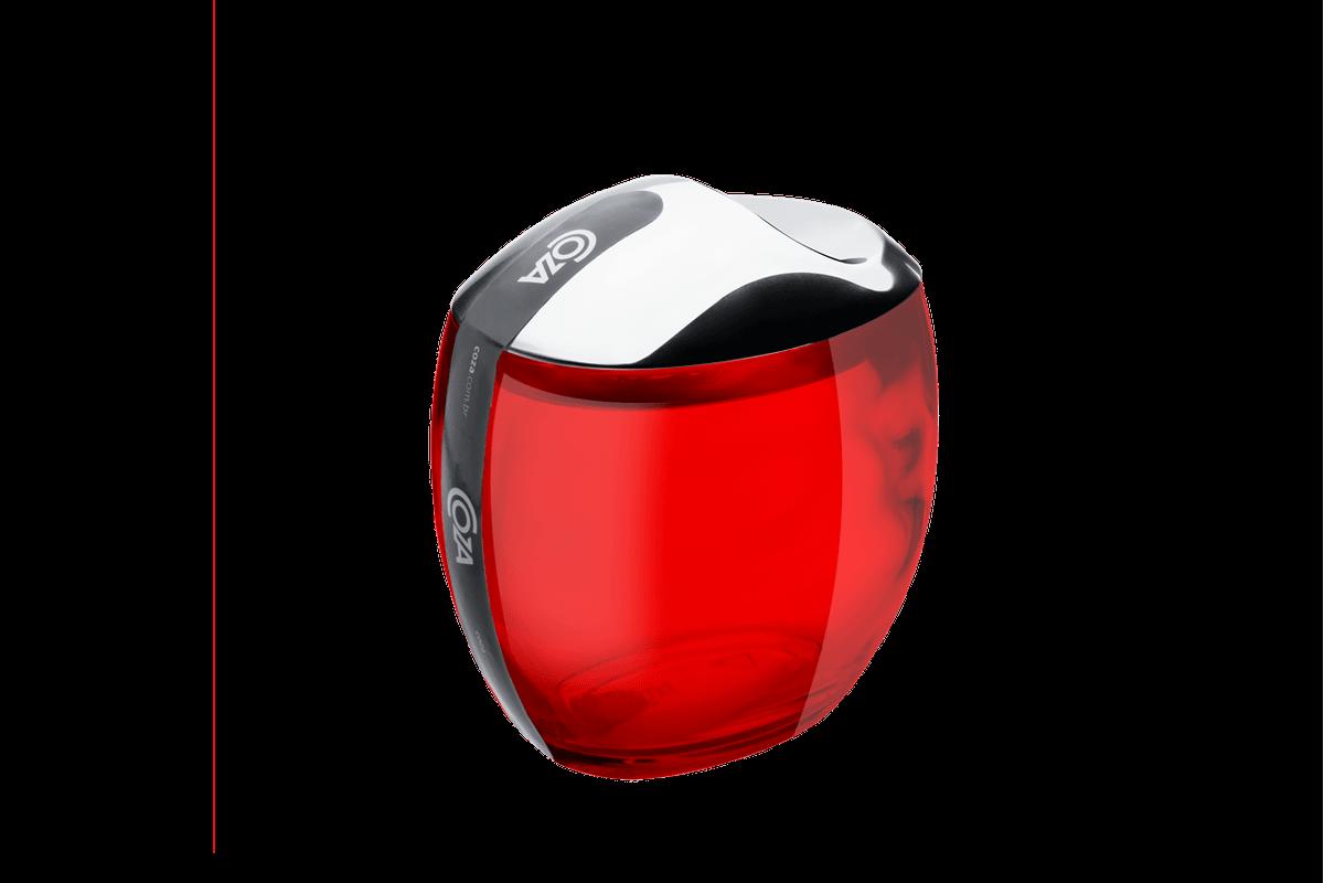 Porta Algodão/Cotonetes - Spoom Classic 10,8 X 10,6 X 8,5 Cm Vermelho Transparente Coza