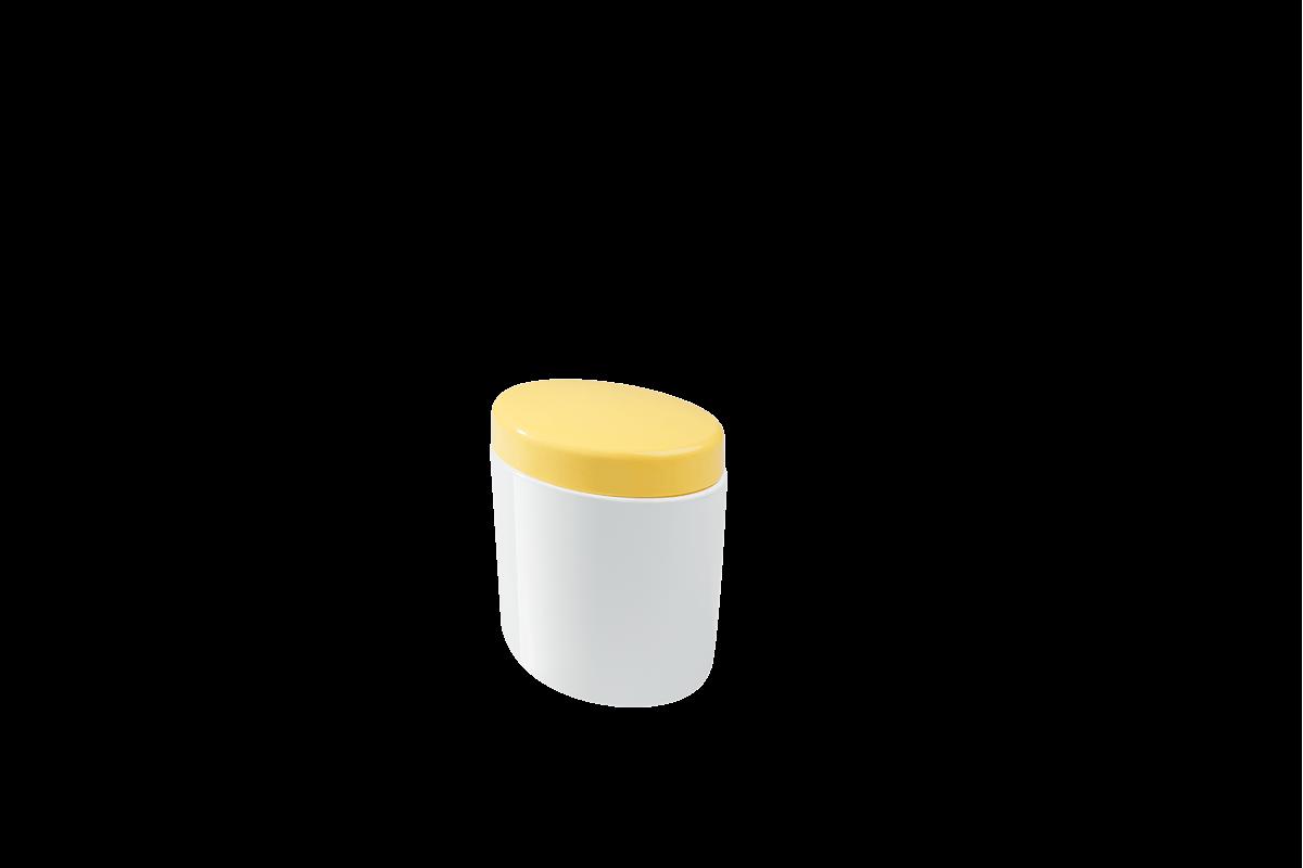 Porta Algodão e Cotonetes Full 10,6 X 7,7 X 11,8 Cm Amarelo Coza