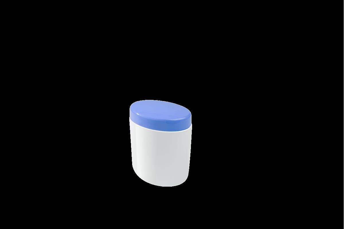 Porta Algodão e Cotonetes Full 10,6 X 7,7 X 11,8 Cm Azul Coza