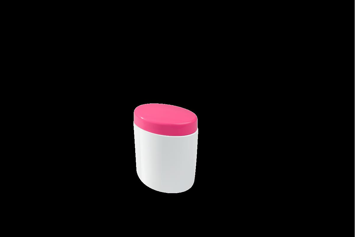 Porta Algodão e Cotonetes Full 10,6 X 7,7 X 11,8 Cm Rosa Coza