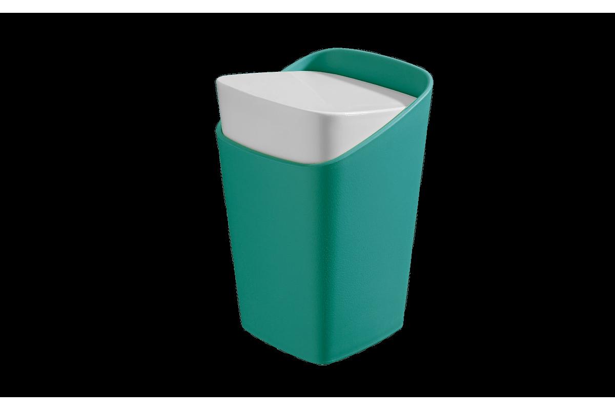 Porta-Algodão - Square 8,2 X 8,2 X 12,3 Cm Verde Coza