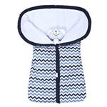 Porta Bebê Chevron Marinho e Azul 100% Algodão