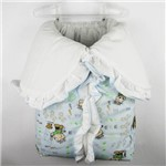 Porta Bebê Masculino Azul Claro Estampado Cebolinha