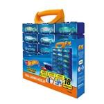 Porta Carrinhos Modular Fun Hot Wheels 18 Peças Azul