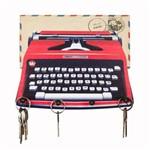 Porta Chaves e Carta Máquina de Escrever