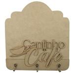 Porta Chaves em MDF 21,5x19,8 Cantinho do Café 3 Ganchos - Palácio da Arte