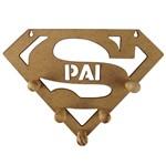 Porta Chaves em MDF 13X18cm Super-Herói Pai - Palácio da Arte