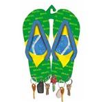 Porta Chaves Mdf Decoupage Chinelo Brasil Dm-046 - Litoarte