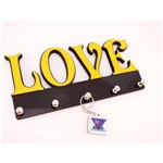 Porta Chaves Mdf Love Pintado