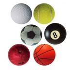 Porta Copos Bolas de Esportes - 6 Peças