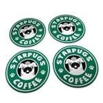 Porta Copos Cachorro Pug Starbucks