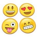 Porta Copos Emojis Emoticon - 4 Peças