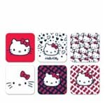 Porta Copos Hello Kitty Faces - 6 Peças