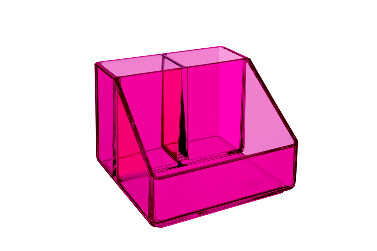Porta Cosméticos 3 Divisórias - Beauté 10 X 10 X 7 Cm Rosa Coza