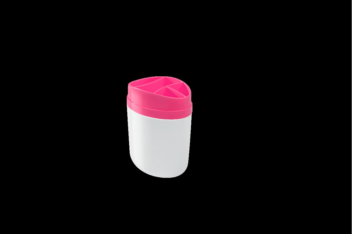 Porta Escova 10,6 X 7,7 X 15,4 Cm Rosa Coza