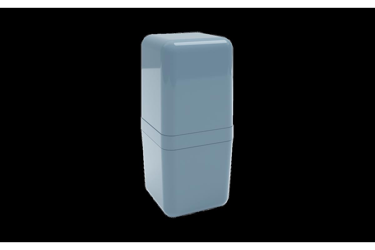 Porta-escova com Tampa Cube - AZF 8,5 X 8,5 X 19,5 Cm Azul Fog Coza
