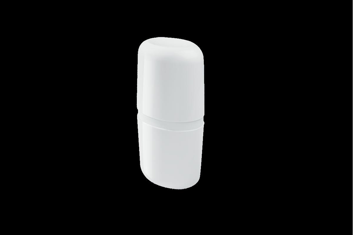 Porta-escova com Tampa Full - BC 10,6 X 7,7 X 21 Cm Branco Coza