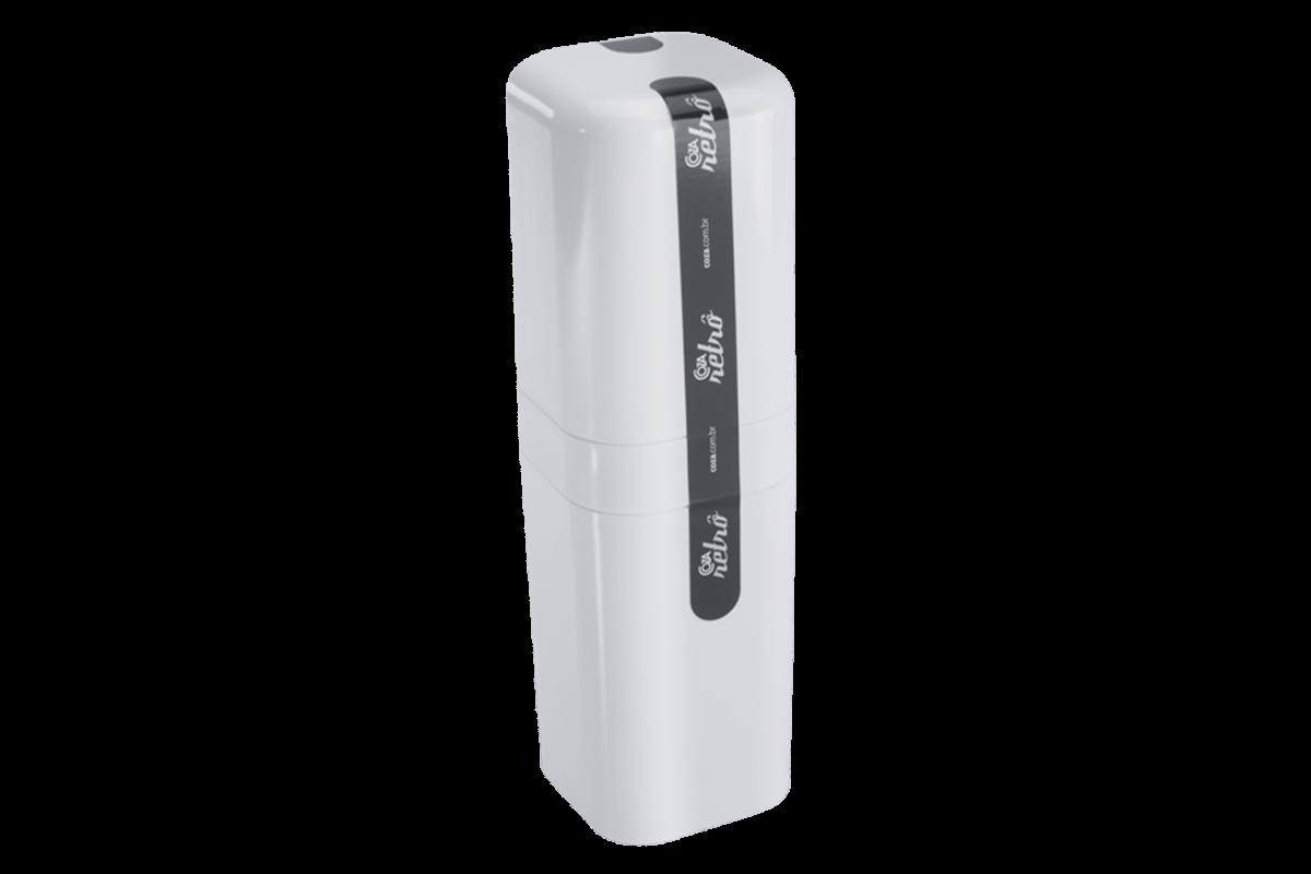 Porta-Escova com Tampa - Splash 6,5 X 6,5 X 22,5 Cm Branco Coza