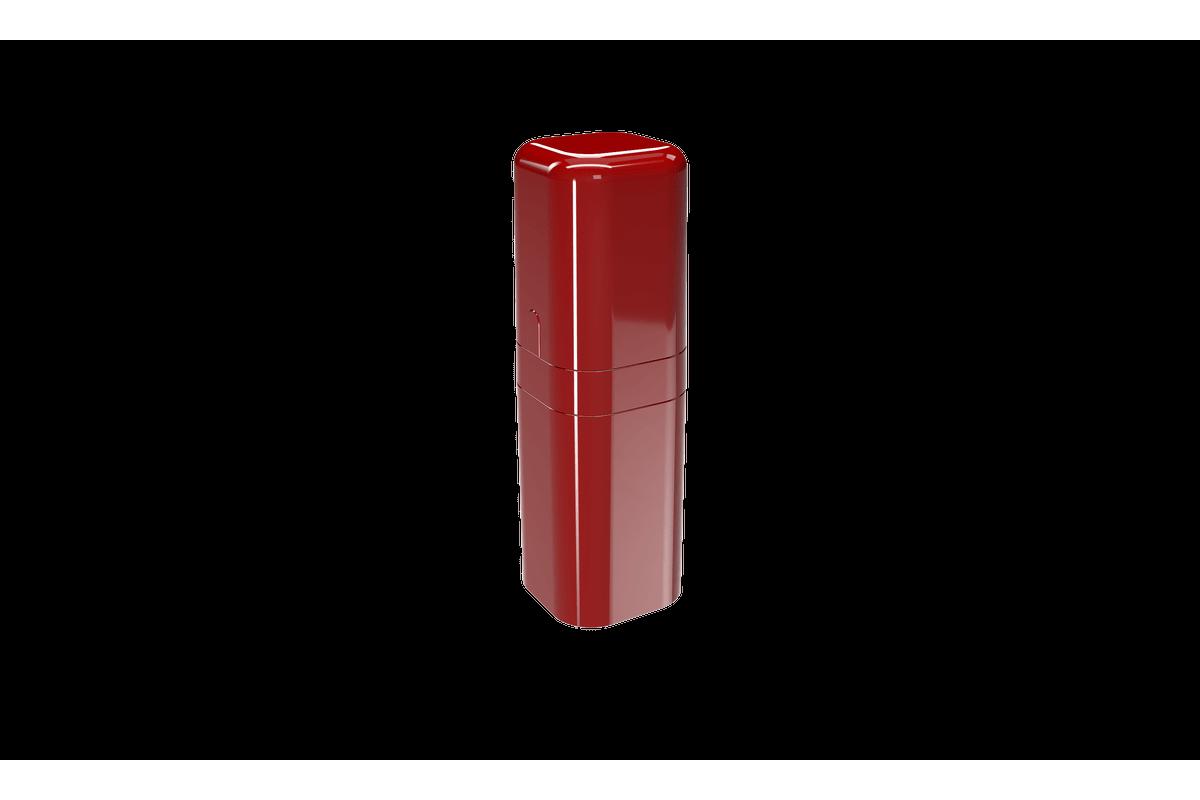 Porta-escova com Tampa Splash - VBO 6,5 X 6,5 X 22,5 Cm Vermelho Bold Coza
