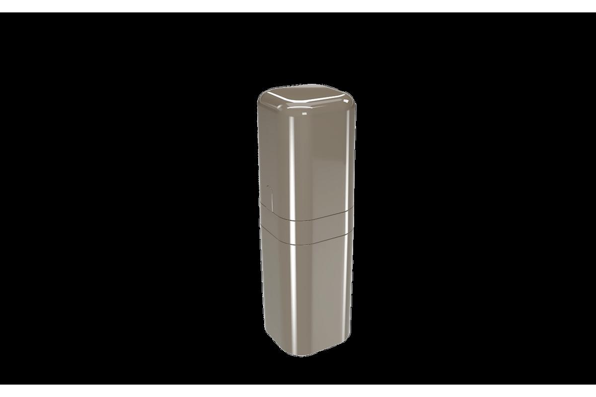 Porta-escova com Tampa Splash - WGR 6,5 X 6,5 X 22,5 Cm Warm Gray Coza