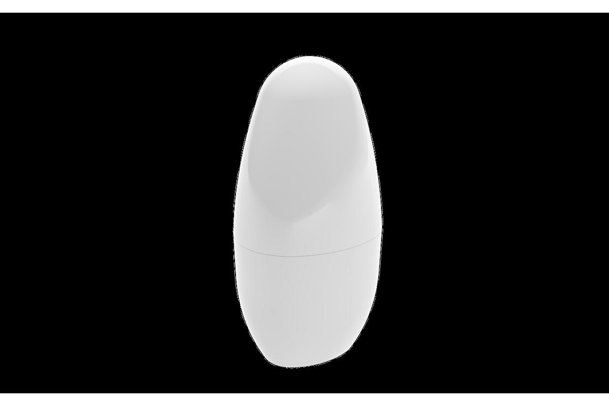 Porta-escova com Tampa Spoom - BC 10,4 X 8,3 X 2,1 Cm Branco Coza