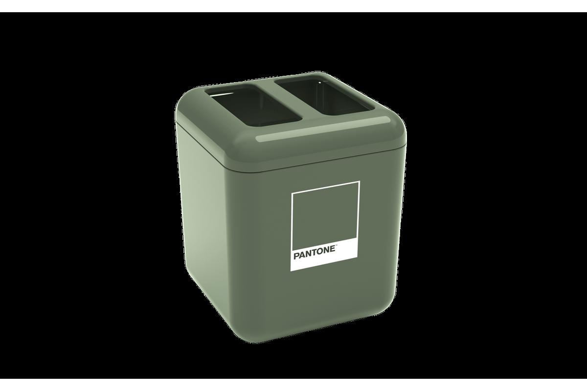 Porta Escova - Cube 8,5 X 8,5 X 10,5 Cm Verde Pantone Coza