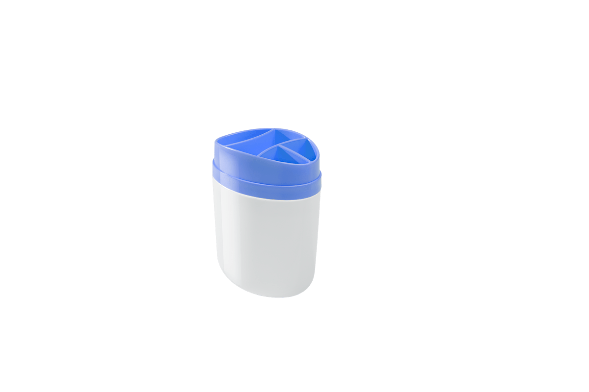 Porta Escova Full 10,6 X 7,7 X 15,4 Cm Azul Coza