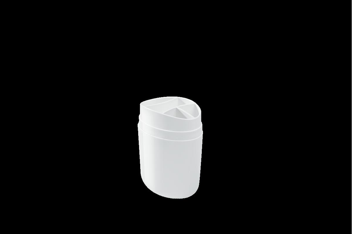 Porta-escova Full - BC 10,6 X 7,7 X 15,4 Cm Branco Coza