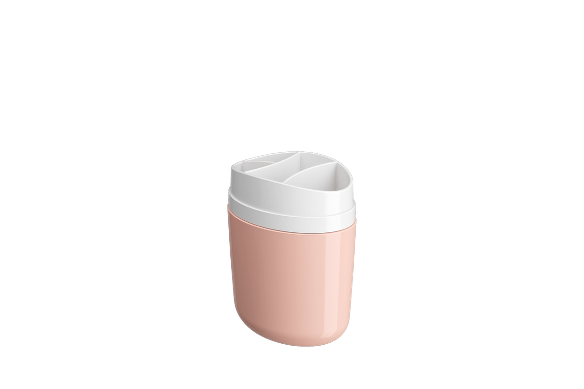 Porta-escova Full - RBL 10,6 X 7,7 X 15,4 Cm Rosa Blush Coza