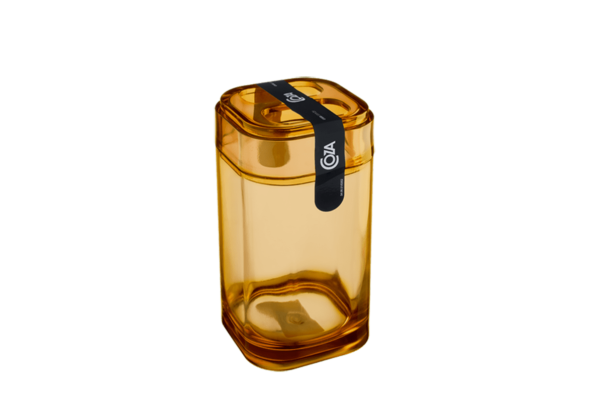 Porta-Escova - Splash 6,5 X 6,5 X 12,7 Cm Mel Coza