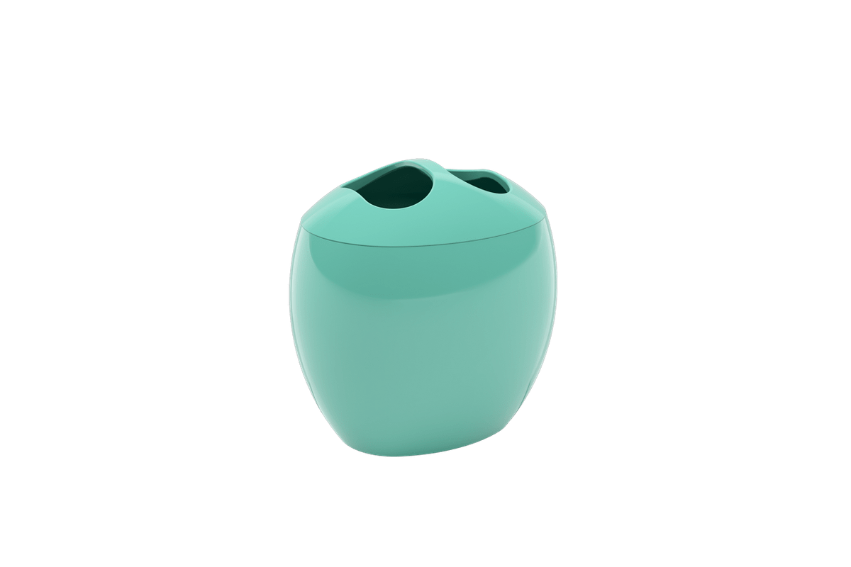 Porta-escova Spoom - VDE 10,6 X 8,5 X 10,6 Cm Verde Elétrico Coza