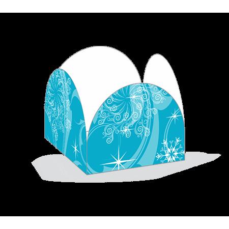 Porta Forminha P/ Doces Flocos de Neve Porta Forminha para Doces Flocos de Neve - 50 Unidades