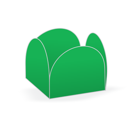 Porta Forminha P/ Doces Verde Bandeira Porta Forminha para Doces Verde Bandeira - 50 Unidades