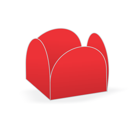 Porta Forminha P/ Doces Vermelho Porta Forminha para Doces Vermelho - 50 Unidades