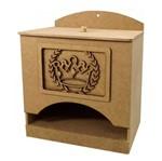 Porta Fraldas 3D em MDF Coroa Romana 24,5x16x21cm - Palácio da Arte