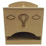 Porta Fraldas em MDF Balão 24,5x15,5x21cm - Palácio da Arte