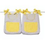 Porta Fraldas para Bebê 2 Peças Baby Chevron Cinza e Amarelo