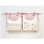 Porta Fraldas para Bebê 2 Peças Sarah Floral Rose