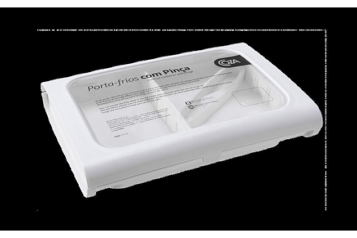 Porta-Frios com Pinça Casual 24 X 17 X 5 Cm Branco Coza