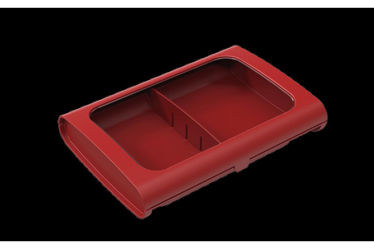 Porta-frios Sem Pinça - Casual 24 X 17 X 5 Cm Vermelho Bold Coza