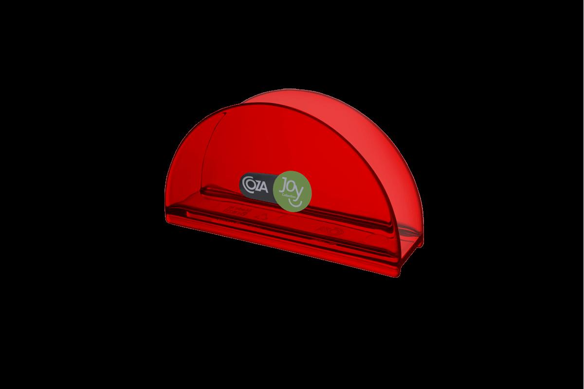 Porta Guardanapo Cozy 13,7 X 6 X 10 Cm Vermelho Transparente Coza