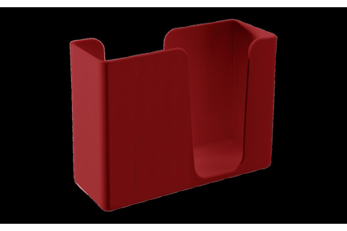 Porta-guardanapos Casual 13,6 X 5,3 X 10,4 Cm Vermelho Bold Coza