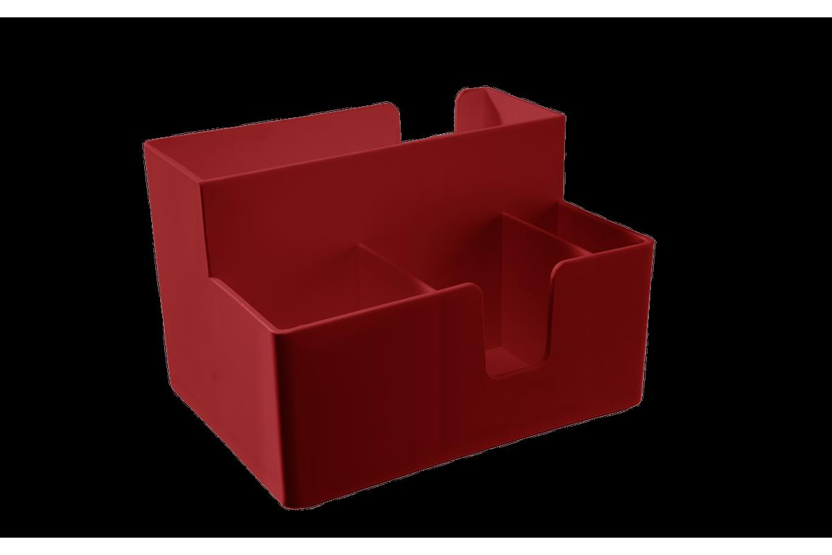 Porta-guardanapos e Sachês Casual 14,1 X 10,6 X 9,4 Cm Vermelho Bold Coza