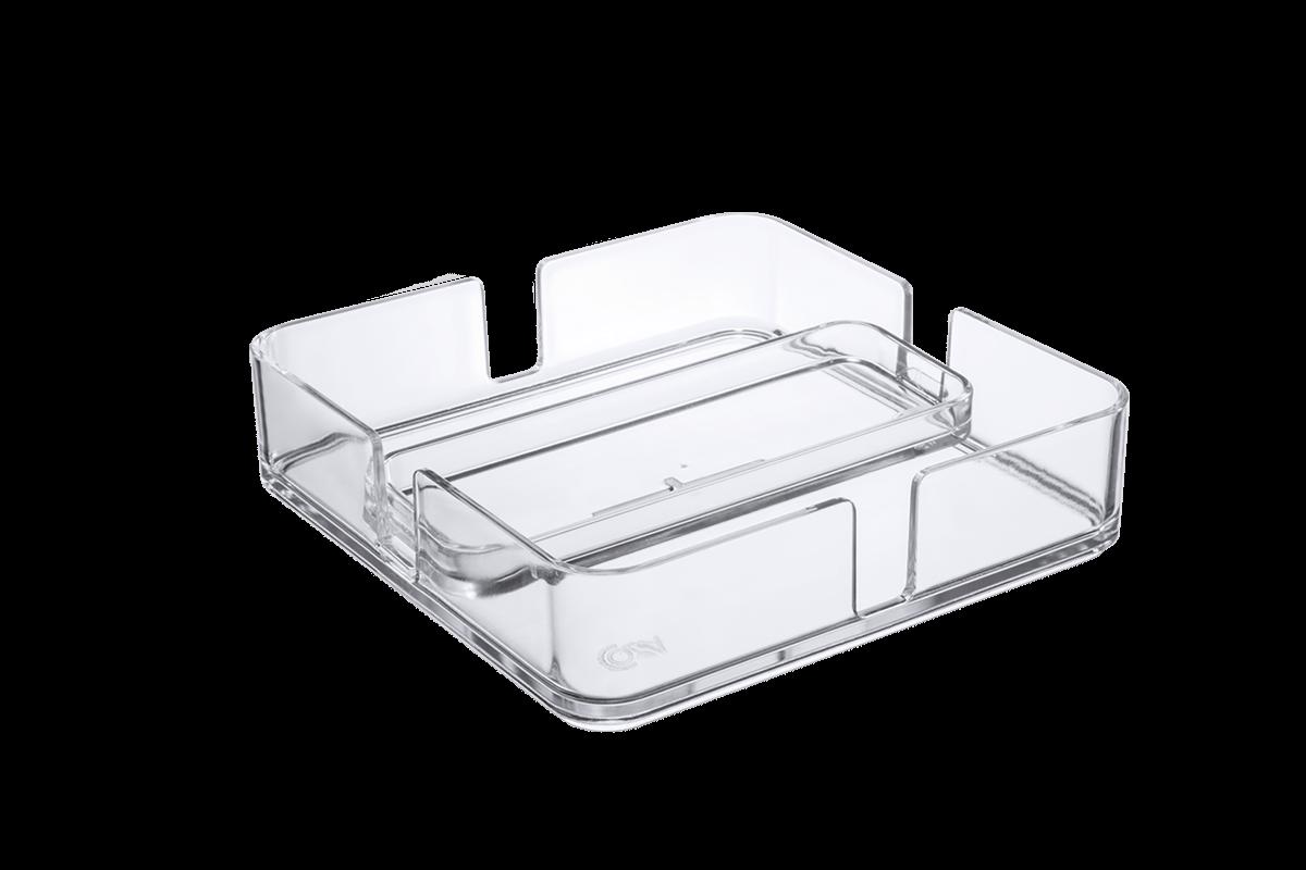 Porta Guardanapos - MOD 18,9 X 18,9 X 4,7 Cm Cristal Coza