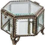Porta-Joia Ovalado Silver Antique Metaç/Vidro Incolor - Rojemac