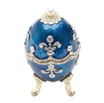 Porta Joias de Zamac Azul Ovo Jebergé Royal Prestige