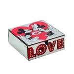 Porta Joias Espelhado Love Mickey e Minnie Disney